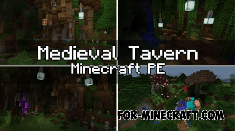 Medieval Tavern map for Minecraft PE 1.0