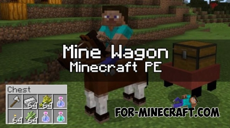Mine Wagon addon for MCPE 1.0.X