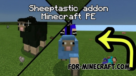 Sheeptastic addon (Minecraft PE 1.0.4.1)