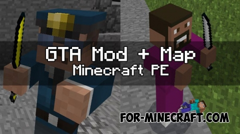 GTA Mod + map for Minecraft PE 1.0.4.1