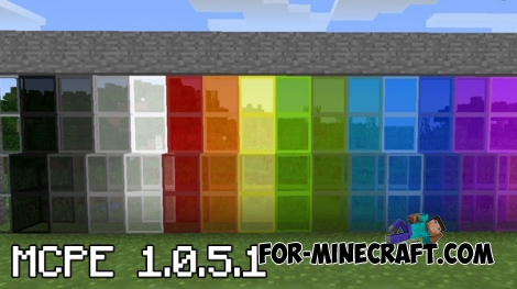 MCPE 1.0.5.1 - Stained glass