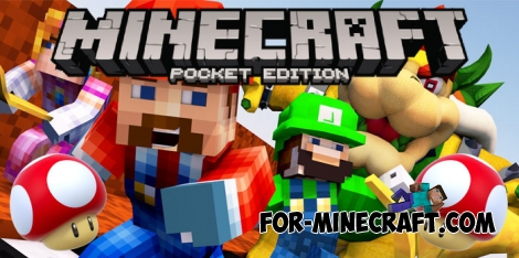 Mario Craft Addon for Minecraft PE 1.0/1.0.5