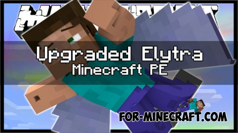 Upgraded Elytra mod for Minecraft PE 1.0.X