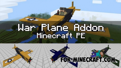 War Plane Addon for Minecraft PE 1.0.0/1.0.5