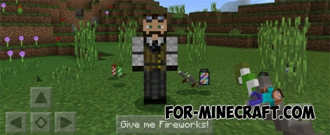 Fireworks addon for MCPE 1.0.5/0.17.0