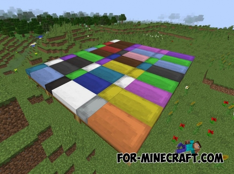 Minecraft PE 1.1 - Dyeable Beds