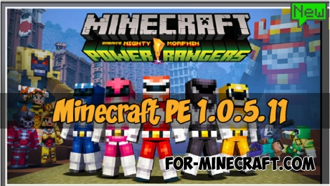 Minecraft PE 1.0.5.11 - Power Rangers skins