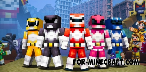Minecraft Pocket Edition 1.0.6 - Mighty Rangers