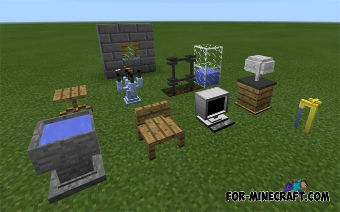 Minecraft Pe Furniture furniture mod (minecraft pe 1.1)