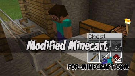 Modified Minecart for Minecraft Pocket Edition