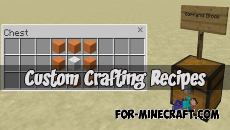 Custom Crafting Recipes map (MCPE 1.1.0)