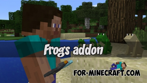 Frogs addon (Minecraft PE 1.1)