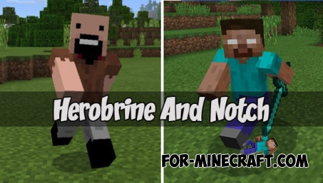 Herobrine And Notch addon (PE 1.0.X-1.1)