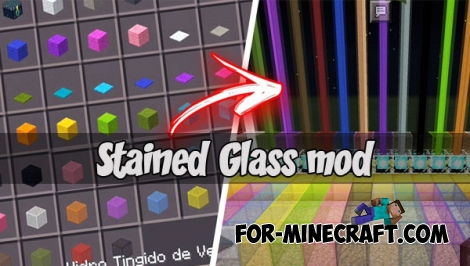 Stained Glass mod (MCPE 1.1+)
