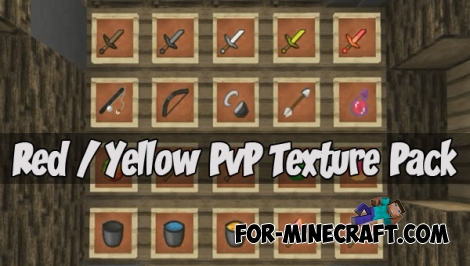 Red & Yellow PvP Texture Pack (MCPE 1.1.0.8)