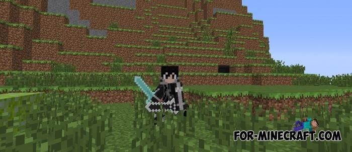 Sword Art Online Mod For MCPE - Skin para minecraft pe de kirito