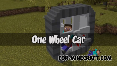 One Wheel Car for Minecraft PE 1.1+