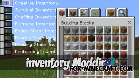 Inventory Tweak addon (MCPE 1.1+)