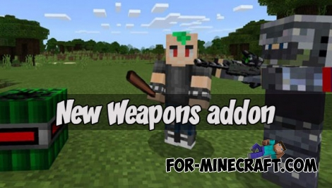 New Weapons addon for Minecraft PE 1.1