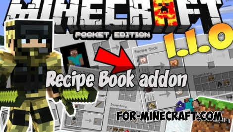Recipe Book addon (MCPE 1.1+)