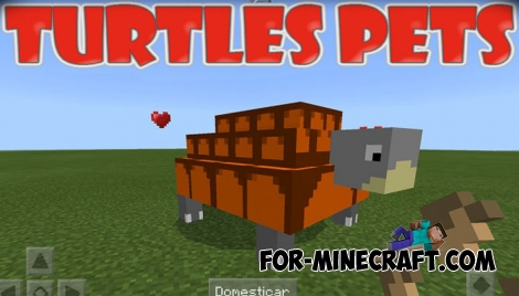 Turtles Pets addon (Minecraft PE)