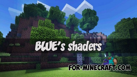 BLUE's shaders (Ultra realistic) (MCPE 1.2)