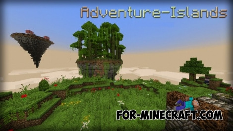 Adventure Islands map (Minecraft PE 1.1+)