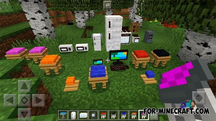 Master\'s Furniture mod (Minecraft PE 1.2)