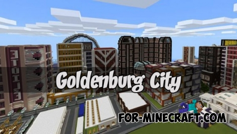 Goldenburg City map (Minecraft PE)