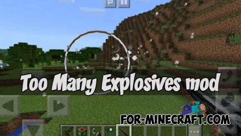 Too Many Explosives mod (Minecraft PE 1.1.3)