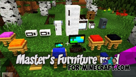 Master's Furniture mod (Minecraft PE 1.1)