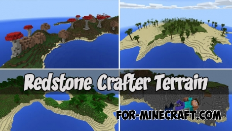 Redstone Crafter Terrain map (MCPE 1.1.3)