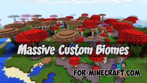 Massive Custom Biomes (Minecraft PE)
