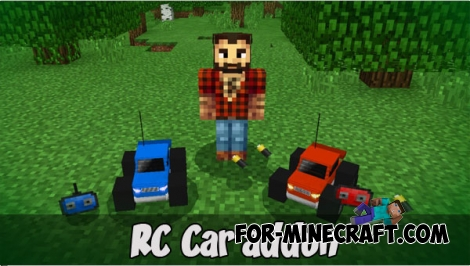 RC Car addon (Minecraft PE 1.1)