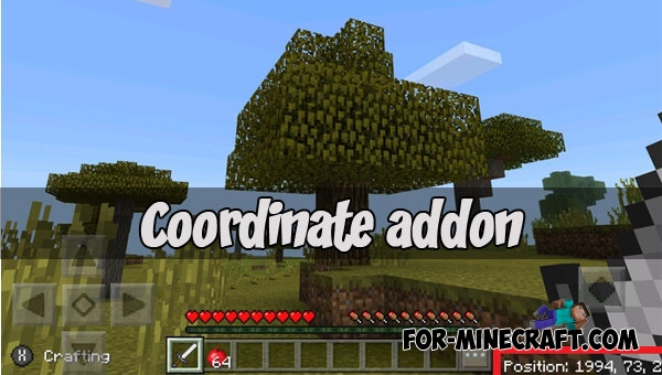 how to get coordinates in minecraft pocket edition