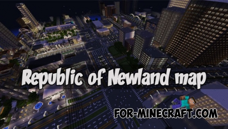 Republic of Newland map (MCPE 1.1)