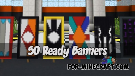 50 Ready Banners for Minecraft PE 1.2