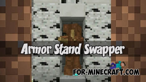 Armor Stand Swapper map (MCPE 1.2)