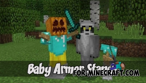 Baby Armor Stands addon (Minecraft PE 1.2)