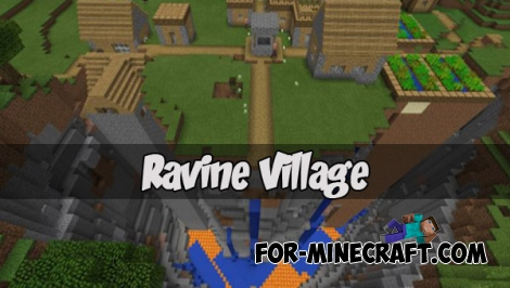 Ravine Village seed for Minecraft PE 1.2