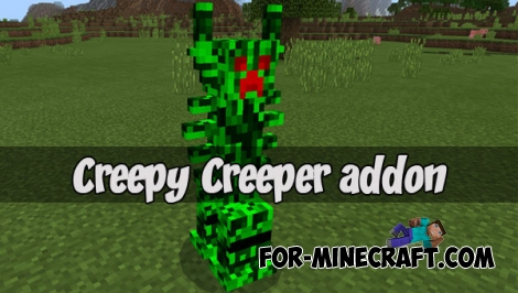 Creepy Creeper addon (MCPE 1.2)