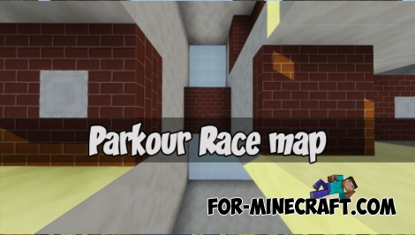 Parkour Race map for MCPE 1.2