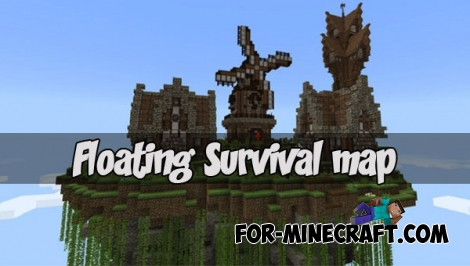 Floating Survival map (MCPE 1.2)