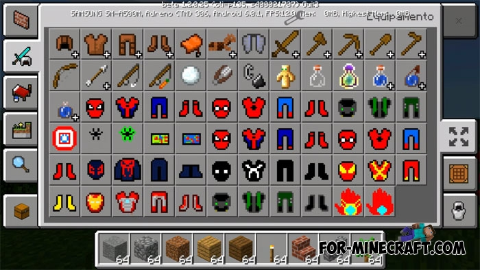 SpiderMan Mod For Minecraft PE - Skins para minecraft pe de spiderman