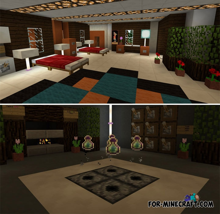 Comfortable Mansion For Minecraft Pe 1 2