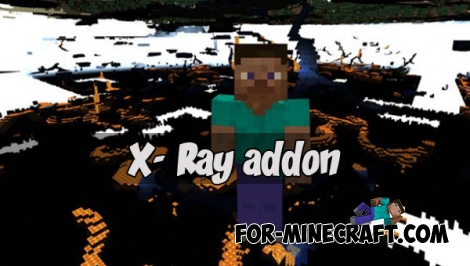 X- Ray addon (Minecraft PE 1.2.5)