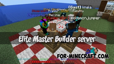Elite Master Builder server for Minecraft PE