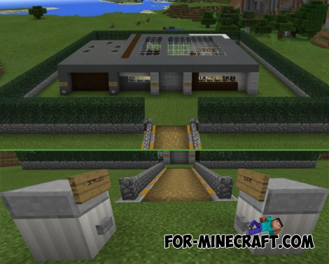 Self-Building House for Minecraft PE 1.1+