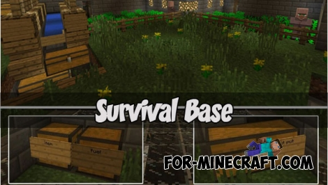 Survival Base for Minecraft PE 1.2