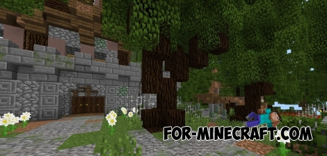 Real Medieval Village map for MCPE 1.X